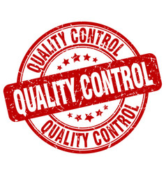 Quality control red grunge stamp vector