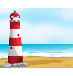 Sea and light house vector image vector image