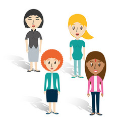 Set avatars women of different diversity over vector