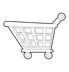 Shopping cart icon outline style vector