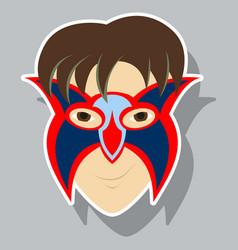 Superhero in action superhero character icon in vector