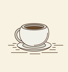 The coffee cup flat vector