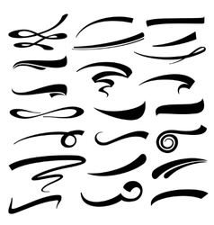 Hand lettering underlines set vector
