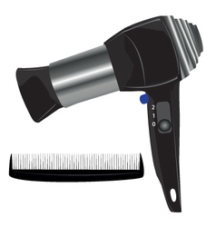 Hair blow dryer vector