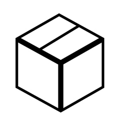 Box cube carton vector