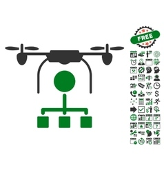 Drone distribution icon with bonus vector