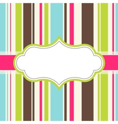 Frame design for greeting card vector