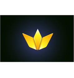 Abstract gold golden crown king logo icon design vector