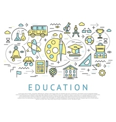 Education horizontal concept vector