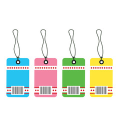 Gift tag bar code vector