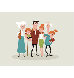 Big happy family picture vector