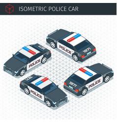 Isometric police car vector