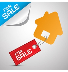 House for sale paper icon vector