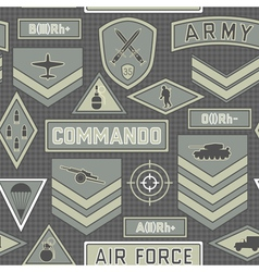 seamless military pattern 10 vector image