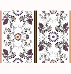 white floral seamless pattern vector image