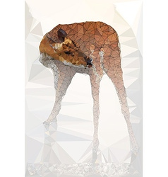 Low poly geometric of deer vector