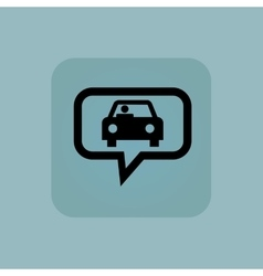 Pale blue car message icon vector