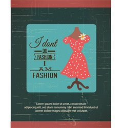 With fashion typography and lady dress vector