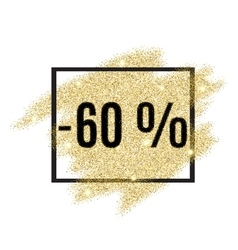 60 percent off discount promotion tag vector