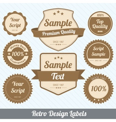 Retro labels vector