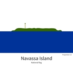 National flag of navassa island with correct vector