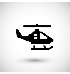 Modern helicopter icon vector