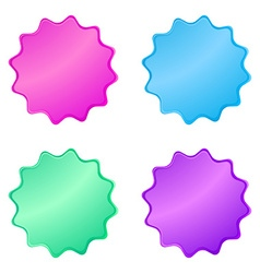 0220multicolored glossy stickers in the shape of a vector