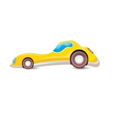 Cartoon orangecar isolated on white vector
