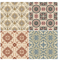 Seamless vintage background collection vector