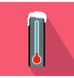 Frozen thermometer icon in flat style vector