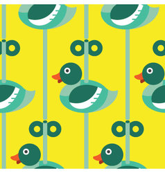 Seamless duck with wind up pattern icon vector