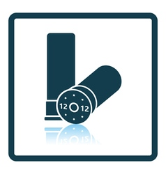 Ammo from hunting gun icon vector
