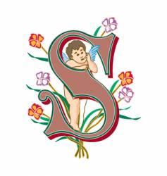 fairytale letter s vector image