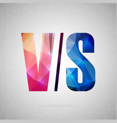 abstract creative concept icon of vs for vector image