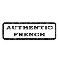 authentic french watermark stamp vector image vector image