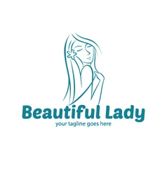 Beauty Lady Logo vector image vector image