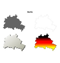 Berlin outline map set vector