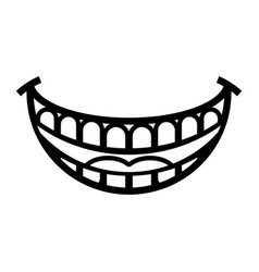 big happy toothy cartoon smile icon vector image vector image