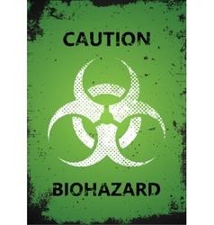 Biohazard logo design biohazard poster grunge vector