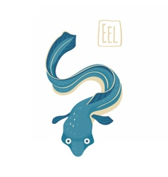Blue eel vector