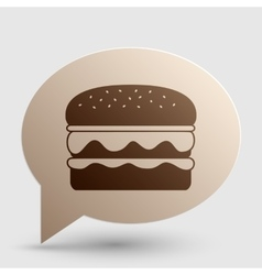 Burger simple sign brown gradient icon on bubble vector