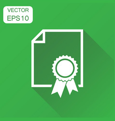 Certificate icon business concept diploma award vector