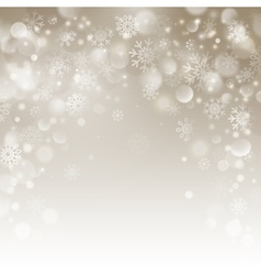 Christmas beige background with snowflakes vector image vector image