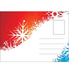 Christmas post card vector