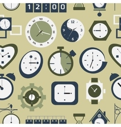 Clocks icons pattern vector image vector image