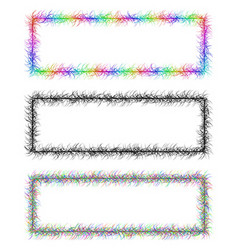 Colorful and monochrome banner frame design set vector