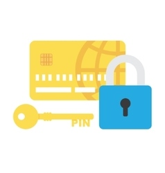 Credit card security icon vector