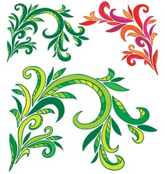 Curly ornament vector