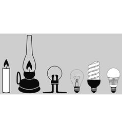 Evolution lighting lamp vector