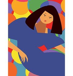 Fashion card - abstract girl vector image